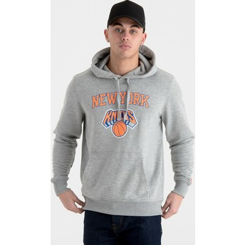 Sweat à capuche gris Pullover Hoody New York Knicks NBA New Era