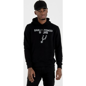 Sweat à capuche noir Pullover Hoody San Antonio Spurs NBA New Era