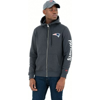 Sweat à capuche pierre Full Zipped Hoody New England Patriots NFL New Era