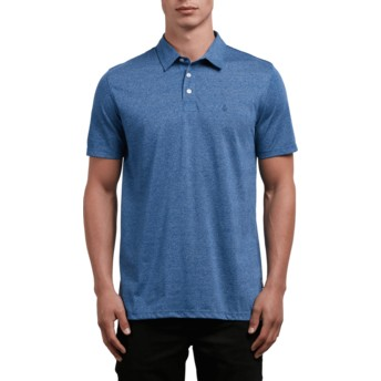 Polo à manche courte bleu Wowzer Blue Drift Volcom