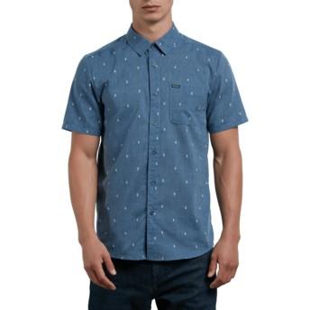 Chemise à manche courte bleue Gladstone Deep Blue Volcom