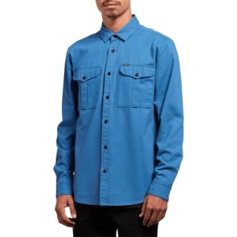 Chemise à manche longue bleue Huckster Used Blue Volcom