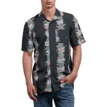 Chemise à manche courte noire Palm Glitch Stealth Volcom