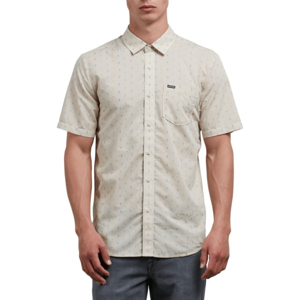 chemise-a-manche-courte-grise-rollins-clay-volcom