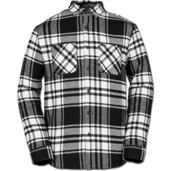 Chemise à manche longue blanche et noire à carreaux Shader White Volcom