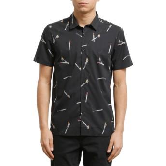 Chemise à manche courte noire Waits Black Volcom