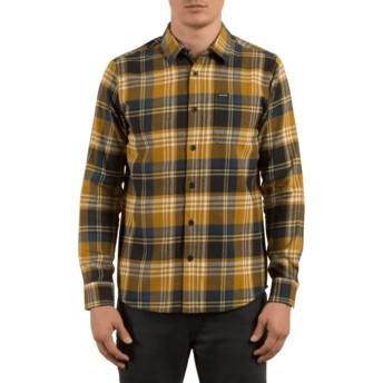 Chemise à manche longue marron à carreaux Caden Caramel Volcom