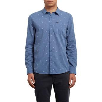 Chemise à manche longue bleue Gladstone Deep Blue Volcom