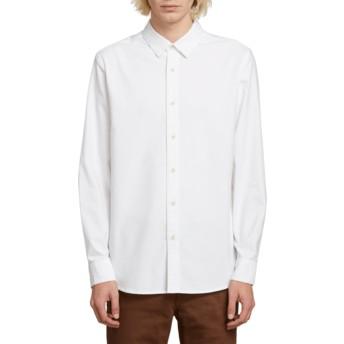 Chemise à manche longue blanche Oxford Stretch White Volcom
