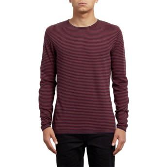 Pull rouge Harweird Stripe Crimson Volcom