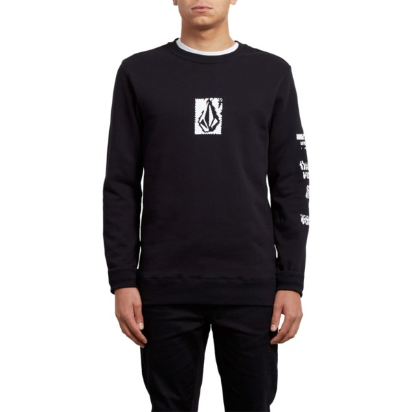 sweat-shirt-noir-supply-stone-black-volcom