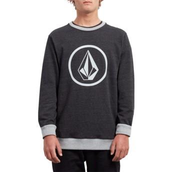 Sweat-shirt noir Stone Sulfur Black Volcom