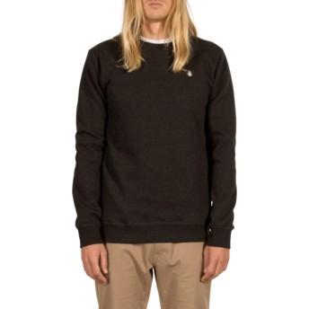 Sweat-shirt noir Single Stone Asphalt Black Volcom