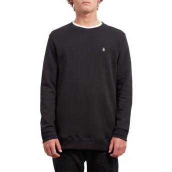 Sweat-shirt noir Single Stone Black Volcom