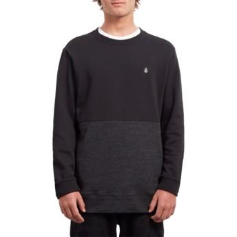 Sweat-shirt noir Single Stone Division Sulfur Black Volcom