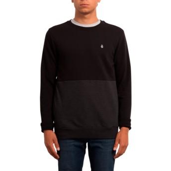Sweat-shirt noir Single Stone Division Black Volcom