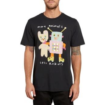 T-shirt à manche courte noir Less Bots Black Volcom