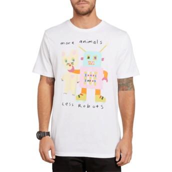 T-shirt à manche courte blanc Less Bots White Volcom
