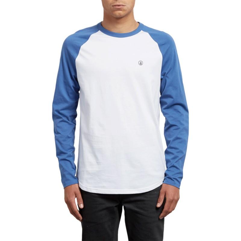 T-shirt à manche longue bleu et blanc Pen Blue Drift Volcom  acheter ... 14f4cfbbe45d