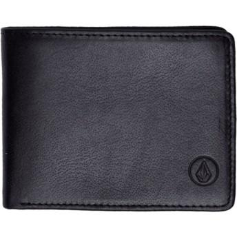 Portefeuille noir Strangler Leather Black Volcom