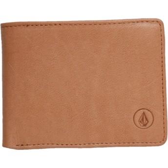 Portefeuille marron Strangler Leather Natural Volcom