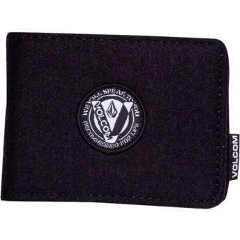 Portefeuille noir Woolstripe Black Volcom