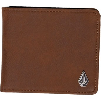 Portefeuille marron Slim Stone Brown Volcom
