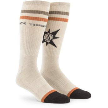 Chaussettes beige A.P. Feather Grey Volcom