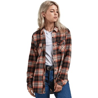 Chemise à manche longue multicolore Getting Rad Plaid Black Plaid Volcom