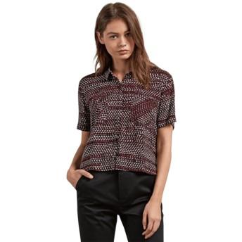 Chemise à manche courte rouge Stone Resort Burgundy Volcom