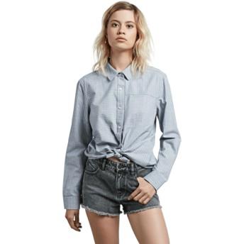 Chemise à manche longue bleue Cham Stripe Volcom