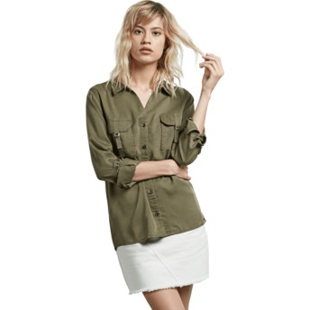 Chemise à manche longue verte Plus Dark Camo Volcom