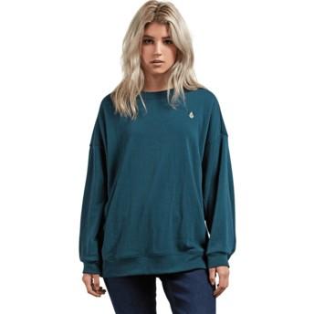 Sweat-shirt vert Darting Traffic Evergreen Volcom
