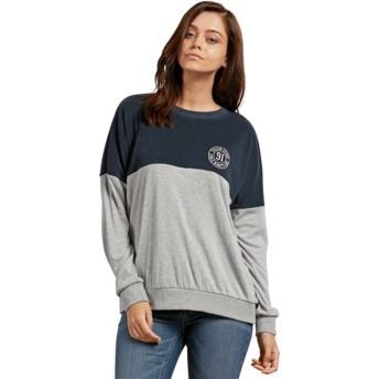 Sweat-shirt bleu marine et gris Blocking Sea Navy Volcom