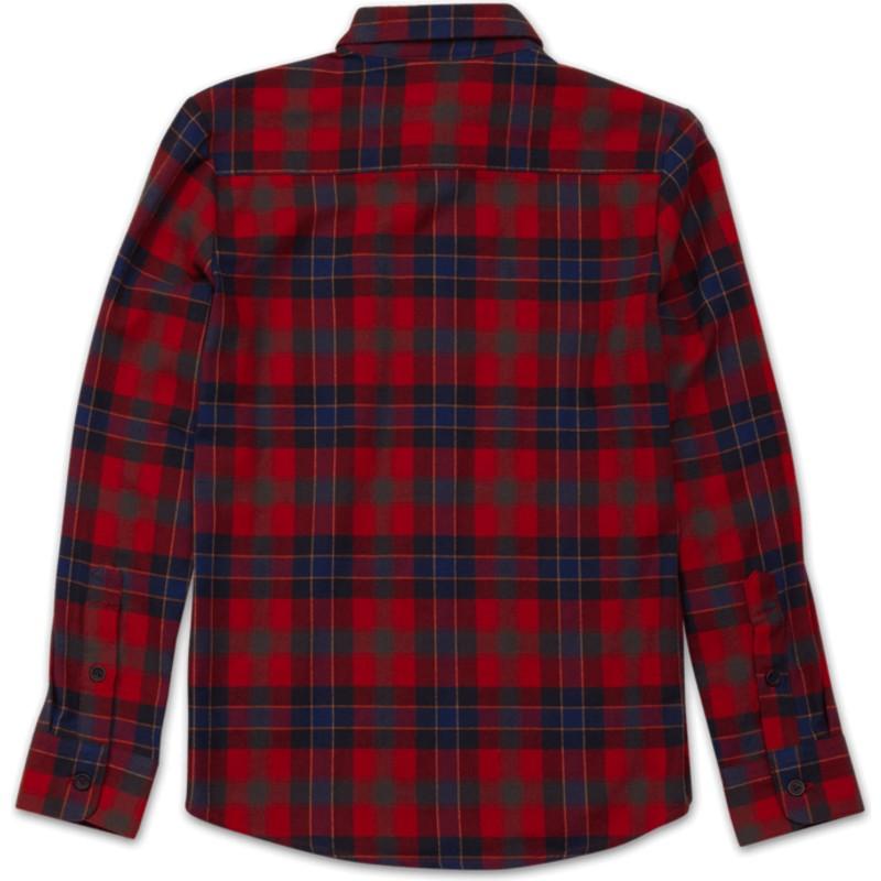 Chemise à manche longue rouge à carreaux pour enfant Caden Plaid ... 1aaf8a92309