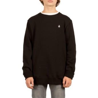 Sweat-shirt noir pour enfant Single Stone Black Volcom