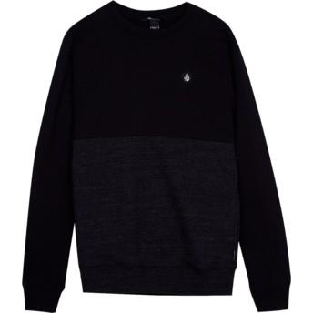 Sweat-shirt noir pour enfant Single Stone Division Sulfur Black Volcom