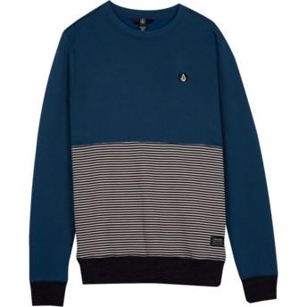 Sweat-shirt bleu pour enfant Threezy Navy Green Volcom