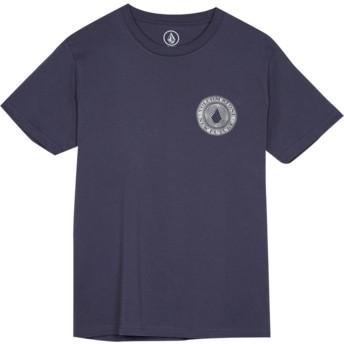 T-shirt à manche courte bleu marine pour enfant Volcomsphere Midnight Blue Volcom