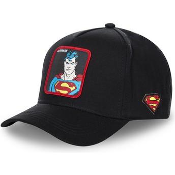 Casquette courbée noire snapback Superman classique SUP4 DC Comics Capslab