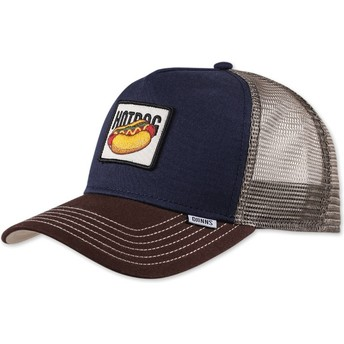 Casquette trucker bleue marine Food Hot Dog Djinns