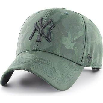 Casquette courbée camouflage verte New York Yankees MLB Clean Up Jigsaw 47 Brand