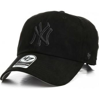 Casquette courbée noire avec logo noir New York Yankees MLB Clean Up Ultra Basic 47 Brand