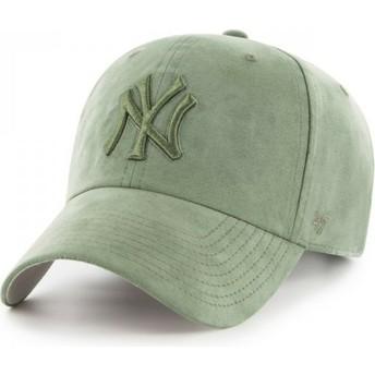Casquette courbée verte avec logo vert New York Yankees MLB Clean Up Ultra Basic 47 Brand