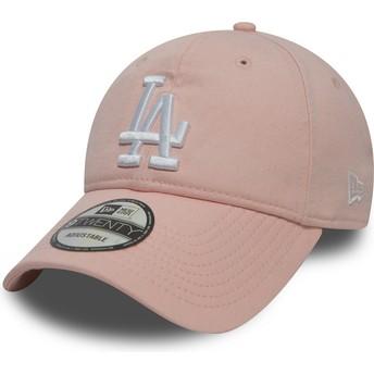 Casquette courbée rose ajustable 9TWENTY Essential Packable Los Angeles Dodgers MLB New Era