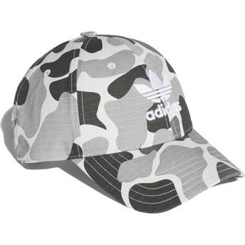 Casquette courbée camouflage grise ajustable Trefoil Classic Adidas