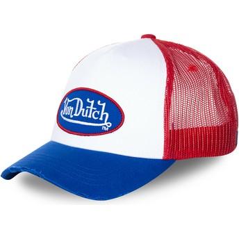 Casquette trucker blanche, rouge et bleue TRUCK16 Von Dutch