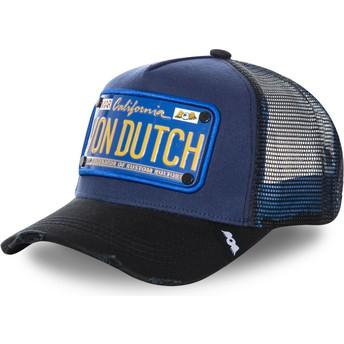 Casquette trucker bleue marine avec plaque TRUCK15 Von Dutch