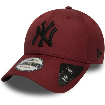 Casquette courbée grenat ajustable avec logo noir 9FORTY Ripstop New York Yankees MLB New Era