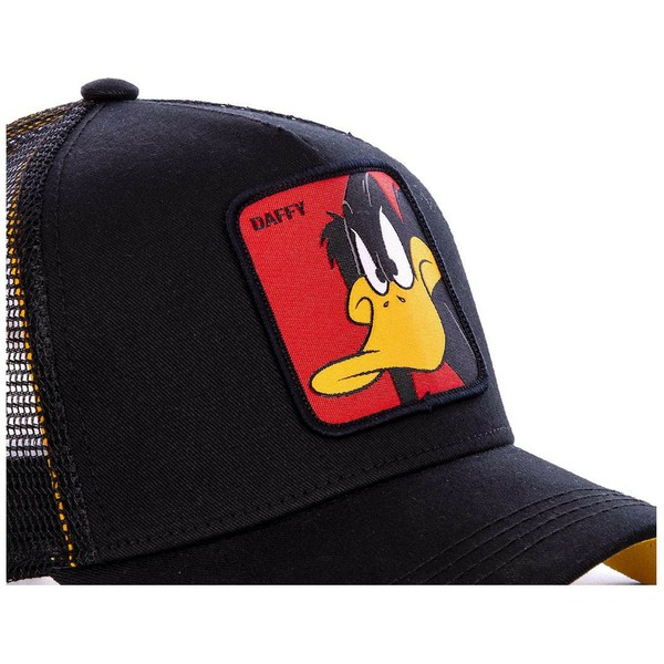 casquette-trucker-noire-daffy-duck-daf1-looney-tunes-capslab